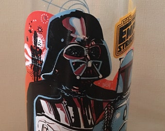 Star Wars Empire Strikes Back Darth Vader and Boba Fett Burger King Collectable Glass 1980s