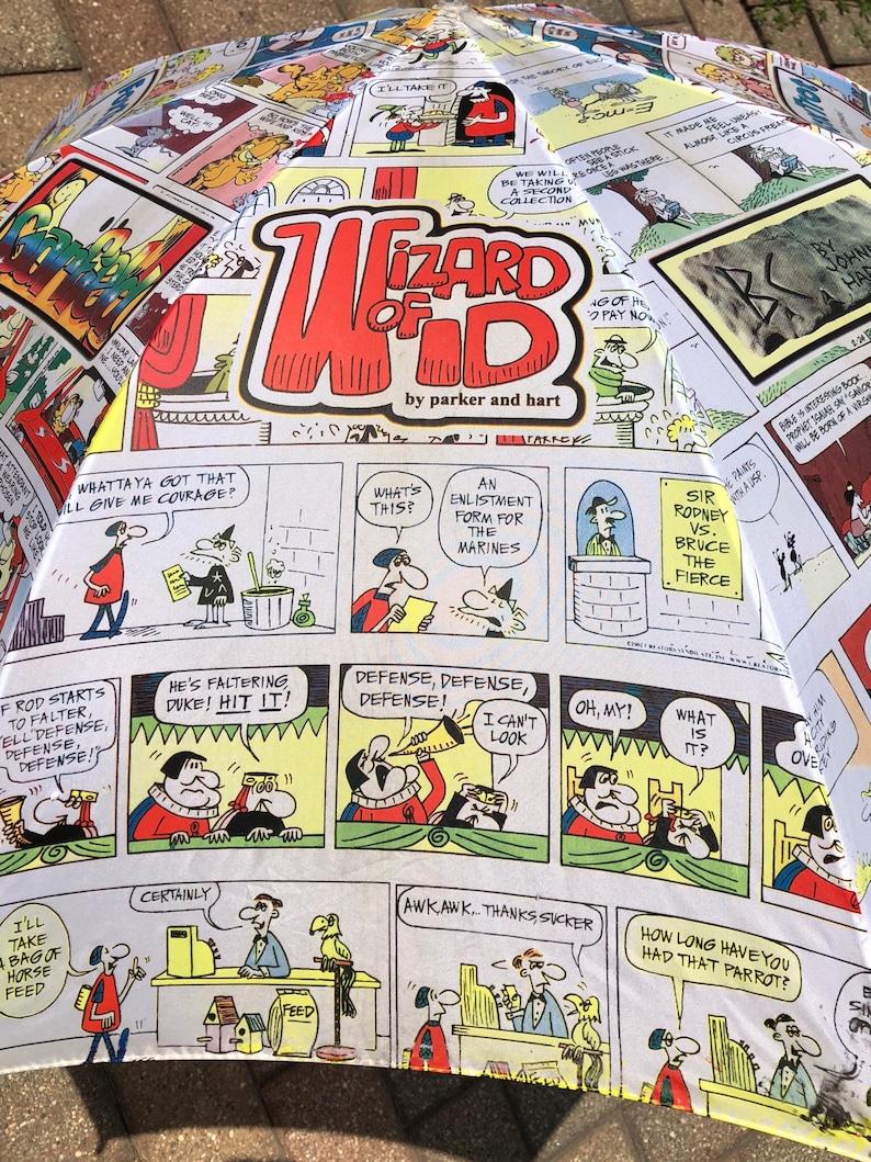 Comic Strip Newspaper Garfield Bc Wizard Of Id Fox Trot Fun Umbrella Wooden Handle Lilshopofcollectabls
