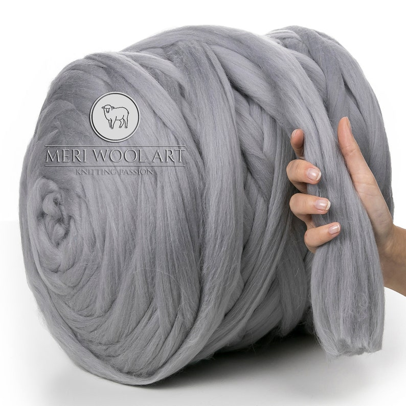 9d03a4ccf1e 100% Chunky Merino Wool Luxury Soft 25 Micron Yarn 4 cm