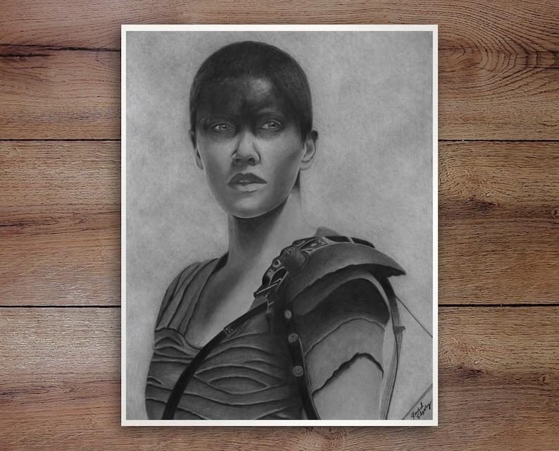 Framed Graphite Drawing Print Furiosa