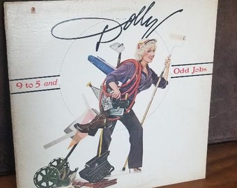 "Vintage 1980 LP DOLLY 9 to 5 and Odd Jobs AHL1-3852 RCA ""Working Girl"" Lilly Tomlin ""The House Of The Rising Sun"" Jane Fonda Concept Album"
