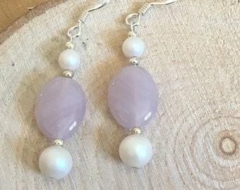 Sterling silver & swarovski earrings