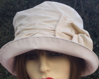 d80acb18511 Feminine Cream Cotton Summer Hat Women