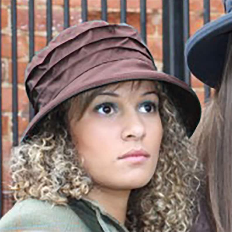 f3eec21d240 Women s Brown Waterproof Wax Hat Small or Wide Brim