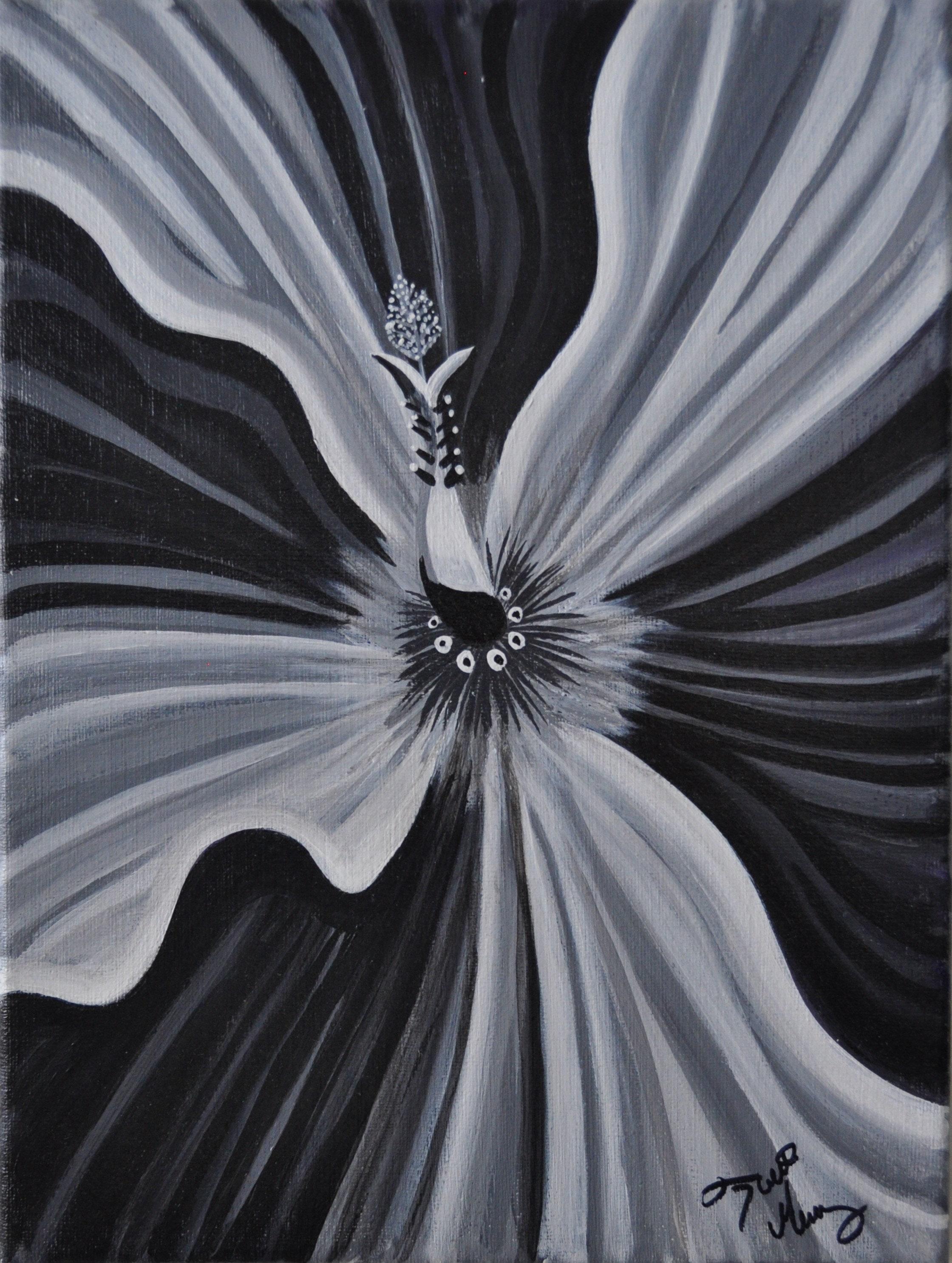 Black white hibiscus etsy zoom izmirmasajfo