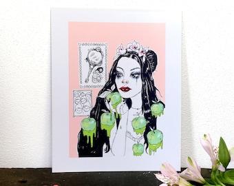 Snow White's Dream / Art Print, Illustration