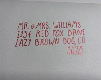 Farmhouse Font Hand-Addressed Envelope