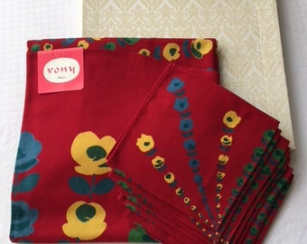 Tablecloth and napkins set. VONY. 1960's