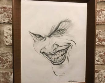Original hand drawn joker sketch