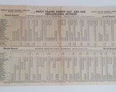 1937 Lehigh Valley Transit Company Railroad Schedule Allentown-Norristown-Philadelphia
