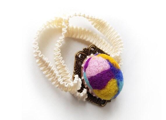 Porte aiguille de de de couture en feutrine pelote laine pelote à épingles bracelet aiguille feutrée maneton Pinkeep porte-aiguille coussin à la main coussin épingles b20272