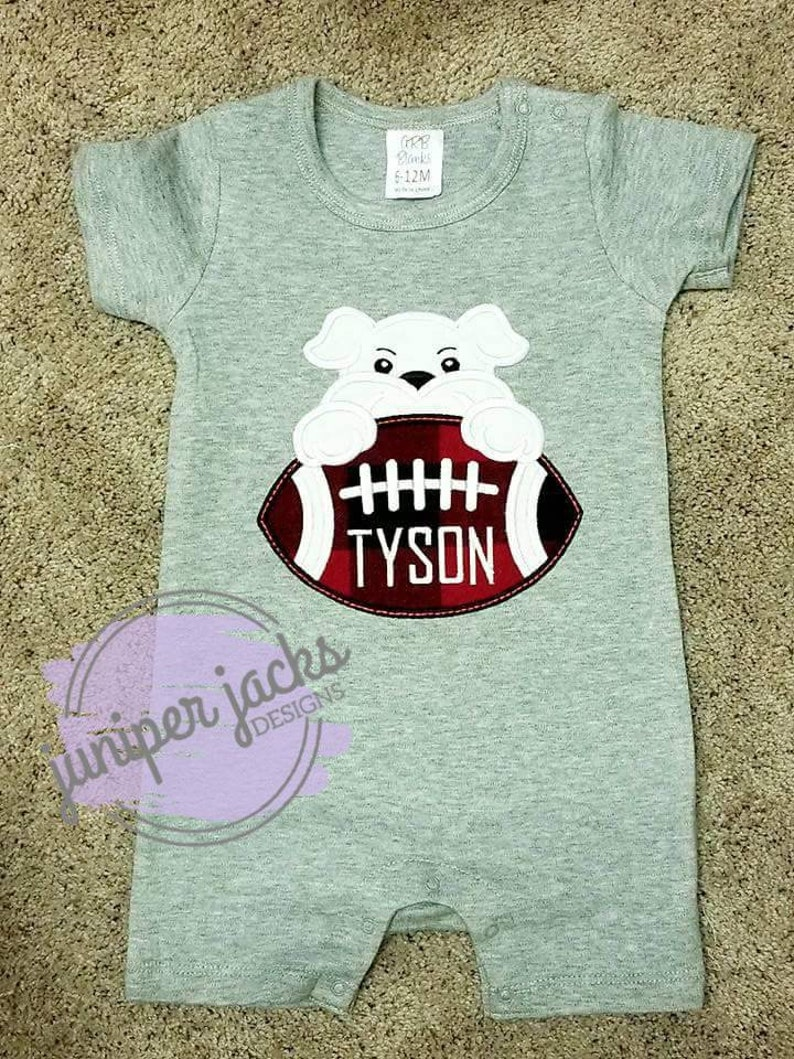 best website c0137 a7288 Boys Georgia Bulldogs Embroidery Design   UGA Shirt   Georgia Football  Shirt   Embroidered Shirt   Romper   Bulldogs Football Design