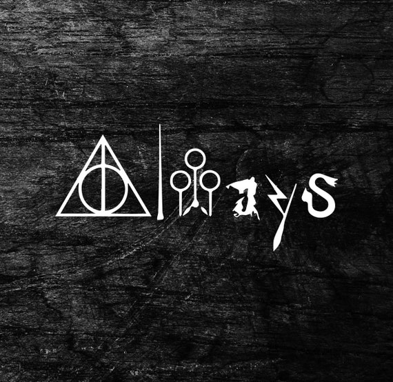 Always Harry Potter Symbols Sign Of The Deathly Hallows Etsy