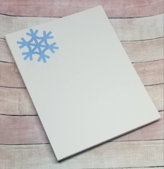 snowflake notepad winter stationary to do list notepad etsy