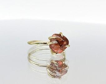 18K Gold Pink Tourmaline Jellybean Ring
