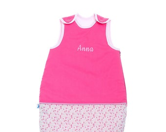 Personalized pink sleeper 0-6 months