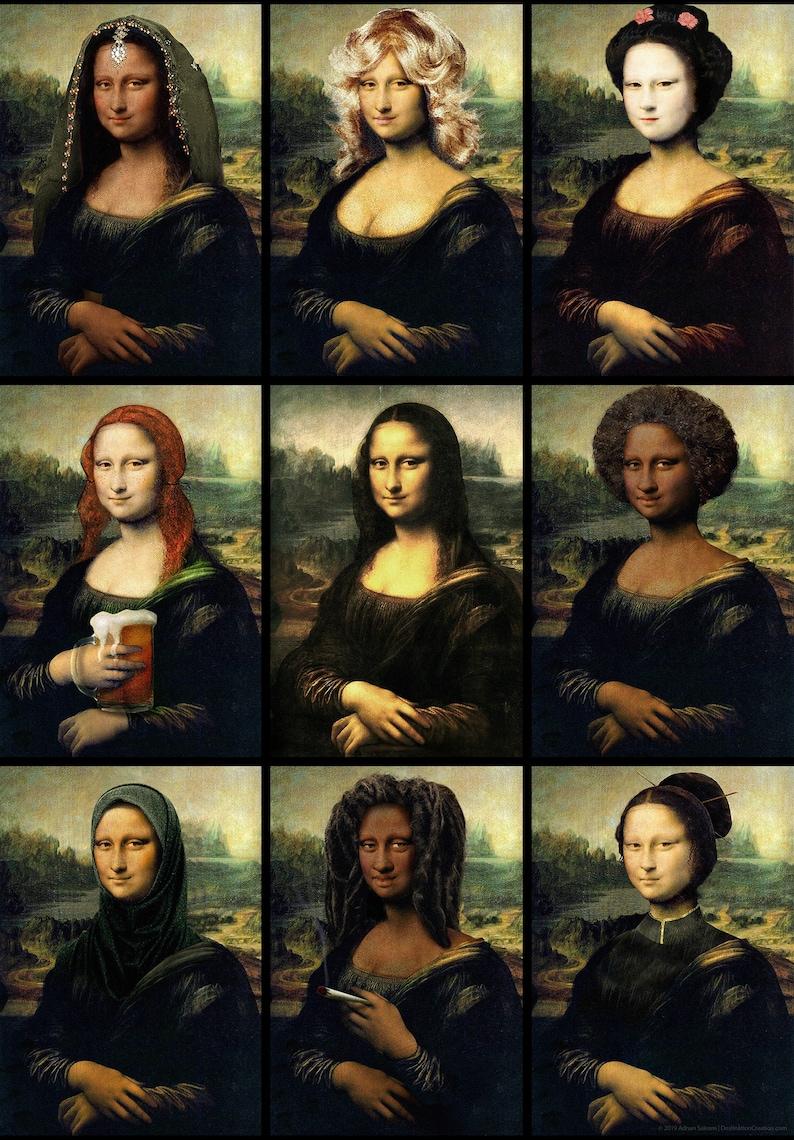 Multicultural Poster  Mona Lisa Poster  Mona Lisa Wall Art  image 0