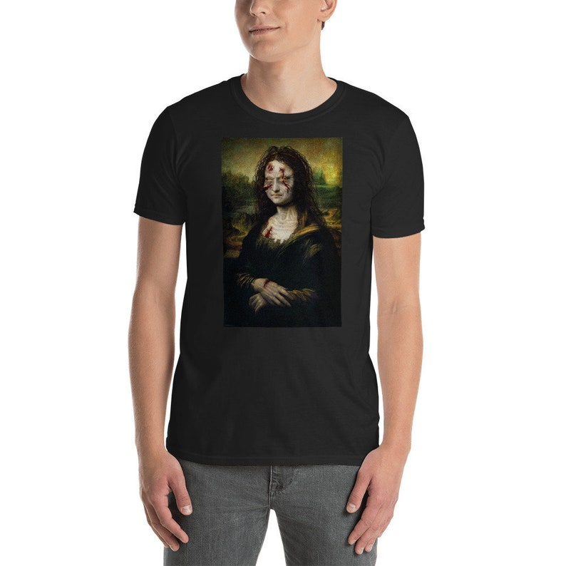 Mona Lisa Zombie  Unisex T-Shirt image 0
