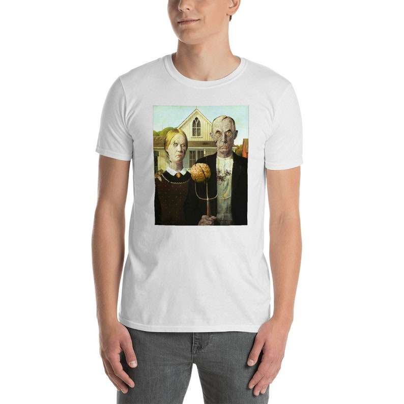 Zombie T Shirt  American Undead  Halloween T Shirt image 0