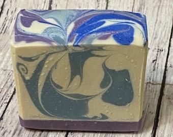 Luxurious Lavender Goat's Milk Homemade Soap from Echo Canyon Goat Farm in Coalinga California
