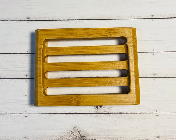 Bamboo Soap Dish/Natural Wood Soap Dish