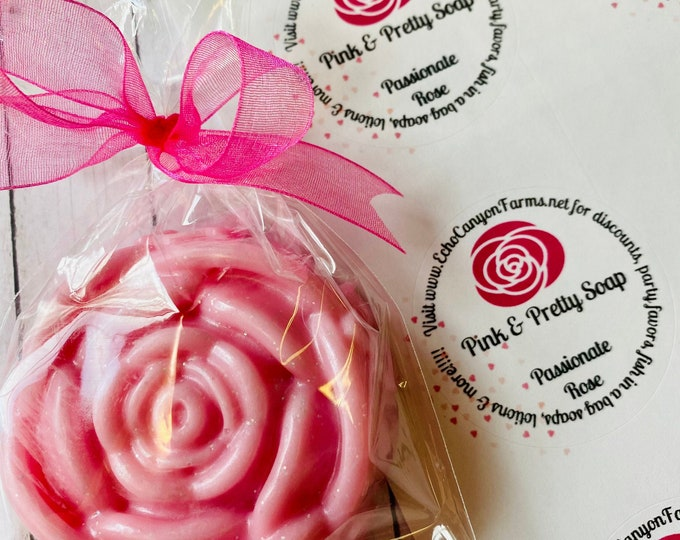 Pretty and Pink Rose Soap/Goat Milk Rose Soap/ Rose Scented Soap/ Passionate Rose Scented Soap/Gorgeous Soaps Echo Canyon Farm