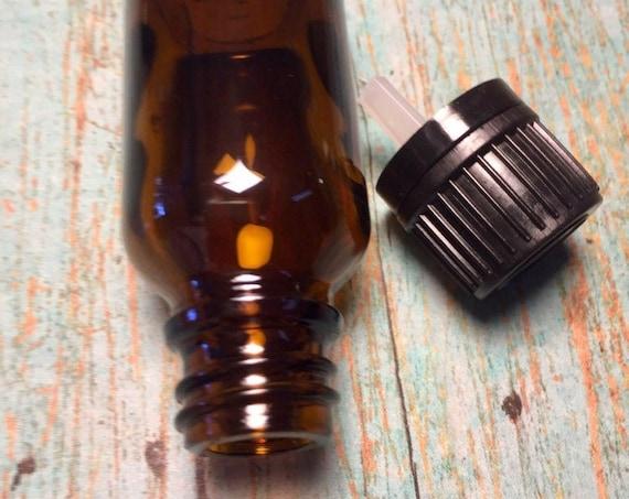 15 ml Empty Bottles/ 1/2 Ounce Amber Glass Bottles/Essential Oil Bottles