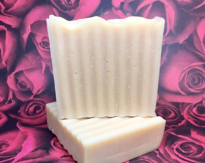 2 Bars Unscented Goat's Milk Homemade Soap from Echo Canyon Goat Farm in Coalinga California
