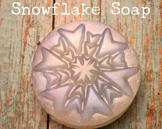 5 Snowflake Frozen Soaps,Frozen Soaps, Party Favors, Kids Soap
