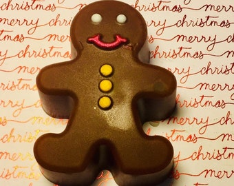 Cute Gingerbread Man Christmas Soap, Stocking Stuffers, Christmas Gifts, Christmas Party Favors