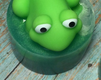 5 Frog Soaps, Child's Birthday, Kid Soap, Party Favors