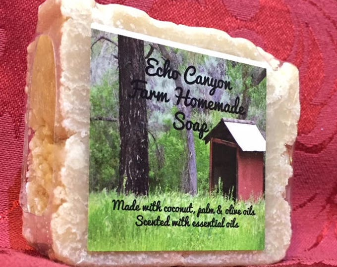 Christmas Peppermint Cocoa Butter Homemade Soap Bar/Stocking Stuffers/Christmas Gifts/ Cherrie Roberts/Echo Canyon Farm Old Fashioned Soaps