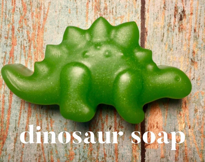 24 Dinosaur Soaps/Kids Party Favors/Soap Embeds/Personalized Party Favors