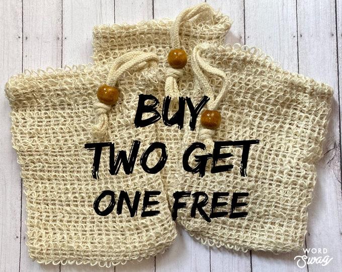 Sisal Soap Saver/Natural Sisal Bag/Biodegradable Soap Bag/Zero Waste Bath Exfoliating Bag/Gift Basket Ideas