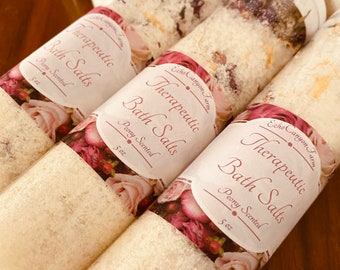 Bath Salts with Calendula and Rose Petals/ Goat's Milk Bath Salts