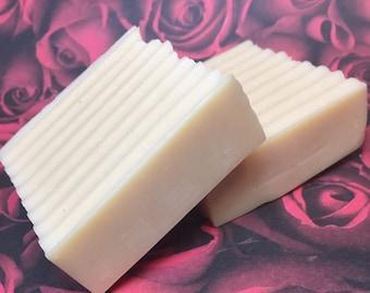 2 Bars Unscented Goat's Milk Homemade Soap from Echo Canyon Goat Farm in Coalinga California