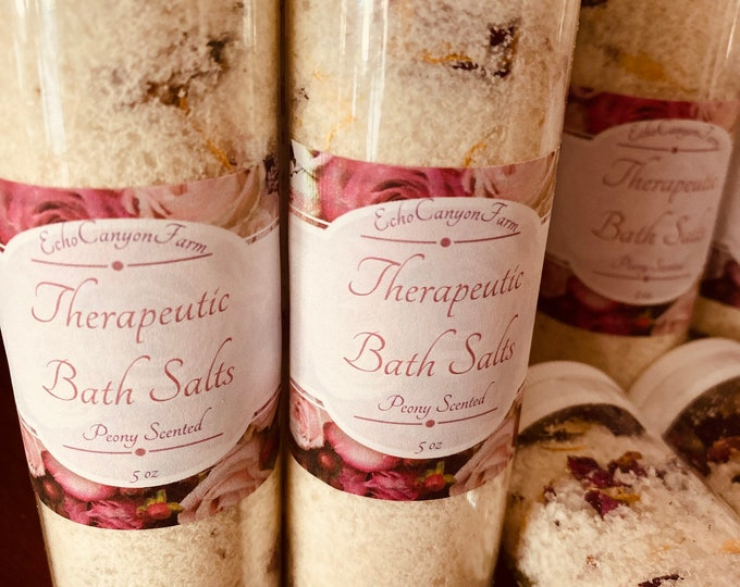 Bath Salts with Calendula and Rose Petals/ Goat's Milk Bath Salts