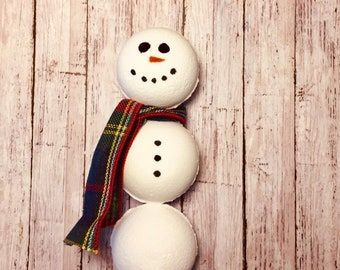 Snowman Bath Bombs Gift Set, Christmas Gifts, Gift Sets, Extra Large Bath Bombs