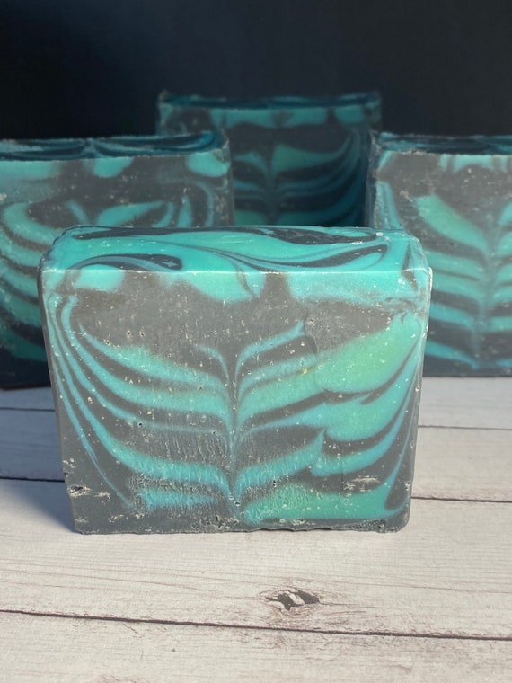 Eucalyptus Mint Handcrafted Soap Bar/Cold Process Artisan Soap with optional Bamboo Soap Dish