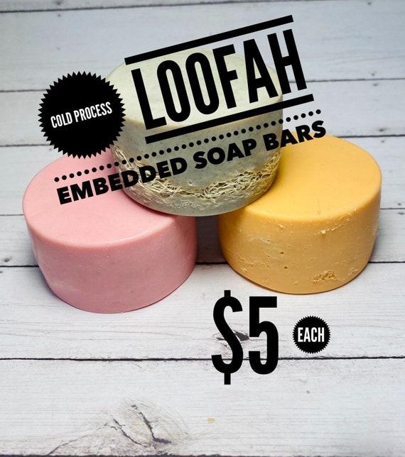 Loofah Embedded Soap Bar