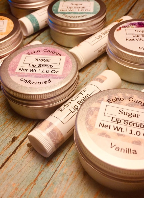 Lip Balm Filled 0.15 Ounce Tube with Optional Coordinating Lip Scrub