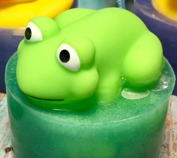 Froggy Soap, Frog Soap, Child's Birthday, Kid Soap, Party Favors