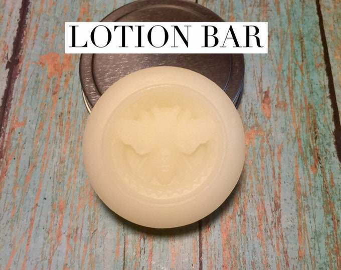2 Bee Lotion Bar in Tin/ Solid Lotion Bar/Cherrie Roberts/Echo Canyon Farm Coalinga California