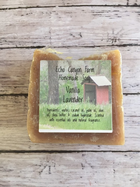 Slow Cooked Vanilla with Touch of Lavender and added Shea Handmade Soap
