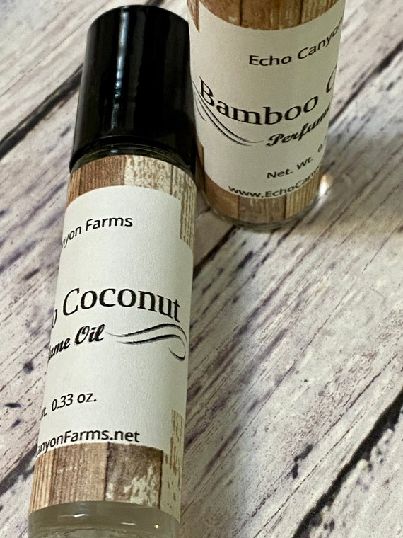 Coconut Bamboo Roll On Perfume/Natural Perfume/Cologne