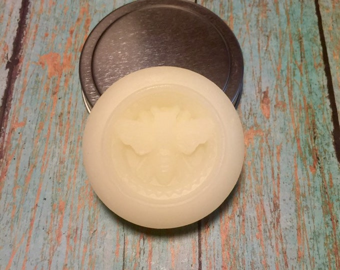 2 Essential Oil Bee Lotion Bar in Tin/Lotion Bar/Solid Lotion