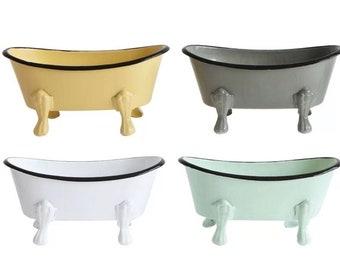 Vintage Clawfoot Bath Tub Soap Dish/Bathroom Decor