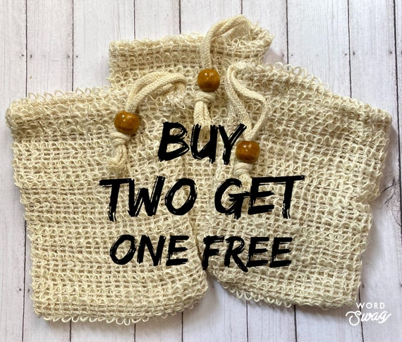 Sisal Soap Saver/Natural Sisal Bag/Biodegradable Soap Bag/Zero Waste Bath Exfoliating Bag/Gift Basket Ideas