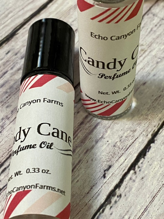 Candy Cane Natural Roll On Perfume/Christmas Perfume/ Stocking Stuffers