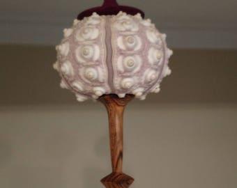 Christmas Ornament, wood and sea urchin shell